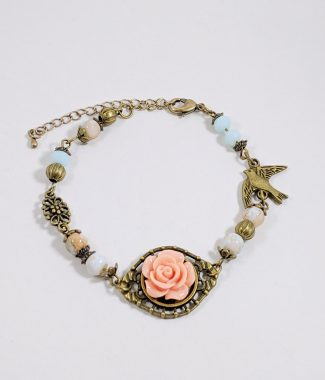Armband_little rose_antikbronze